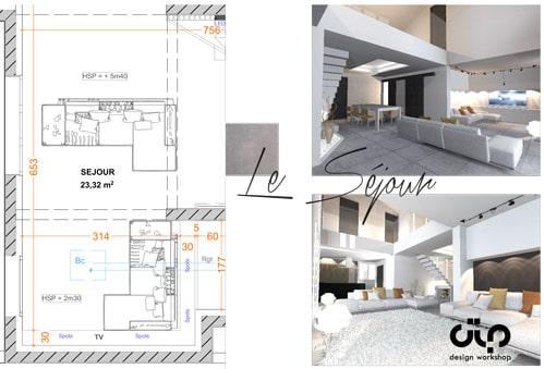 Avant projet sommaire programme d'apprentissage d'architecture intérieur